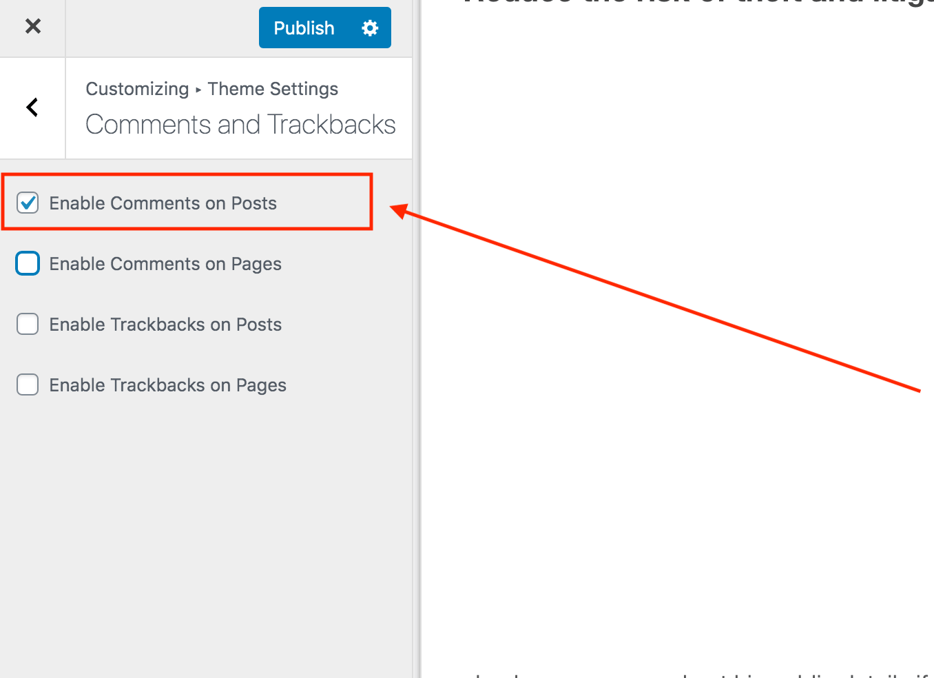 How to enable comment on WordPress posts only