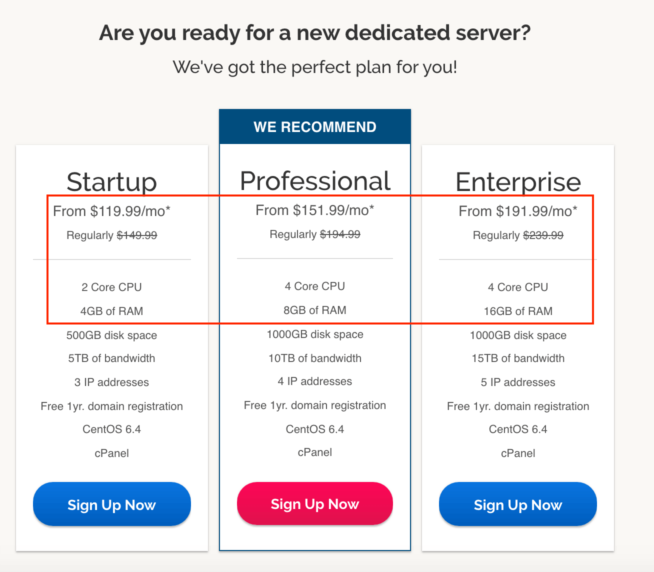 iPage dedicated servers compared to Bluehost